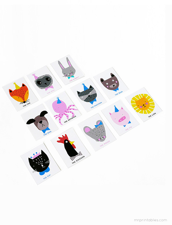 image about Printable Charades Cards named Animal Charades Video game - Mr Printables
