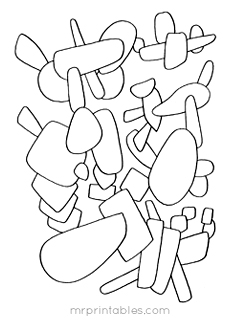 Abstract Coloring Pages For Kids Mr Printables