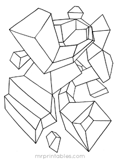 abstract coloring pages mr printables - Abstract Coloring Pages Printable