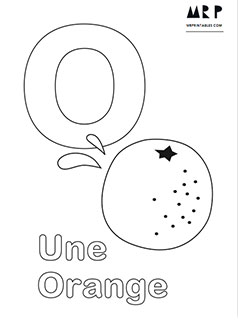 French Alphabet Coloring Pages