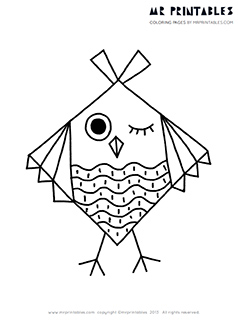 bird coloring pages for kids mr printables
