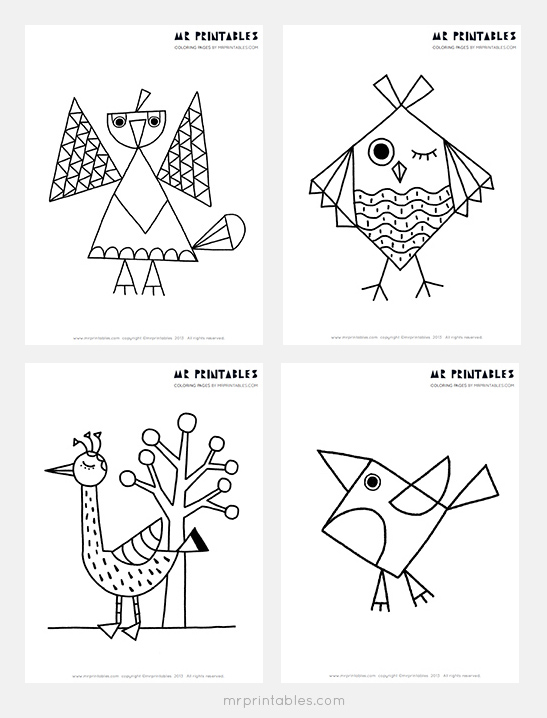 Bird Coloring Pages for Kids - Mr Printables