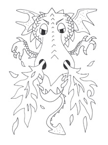 Dragon Coloring Pages  Mr Printables