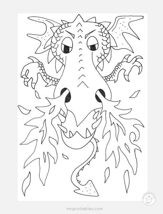 graphic about Printable Dragon Coloring Pages titled Dragon Coloring Web pages - Mr Printables