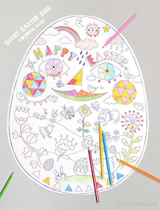photograph regarding Printable Easter Egg Coloring Pages called Easter Coloring Webpages - Mr Printables