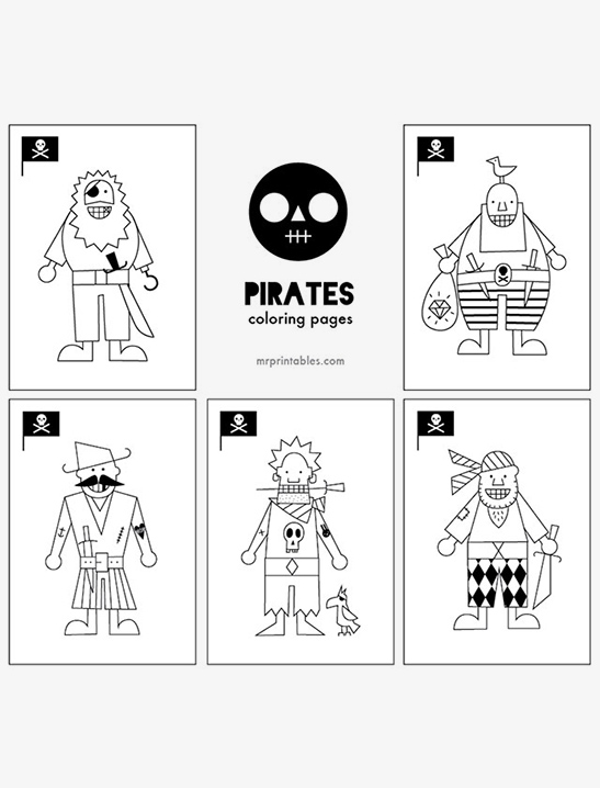 Pirates Coloring Pages Mr Printables