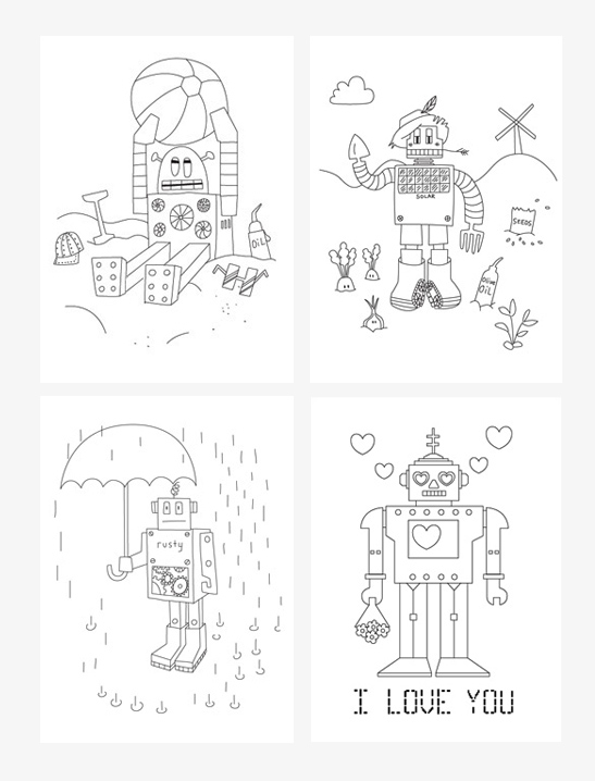 Robot Coloring Pages - Mr Printables