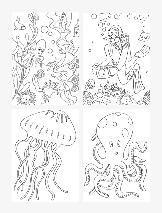 Under The Sea Coloring Pages - Mr Printables