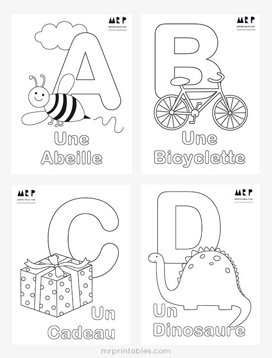 french abc coloring pages - Alphabet Coloring Pages