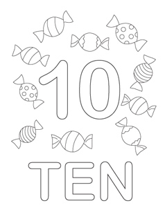 Number Coloring Pages 110 Enchanting Coloring Pages Numbers 1 0