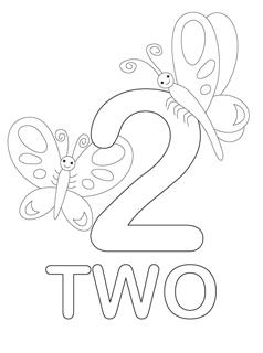 math worksheet : number coloring pages  mr printables : Number 2 Worksheets For Kindergarten