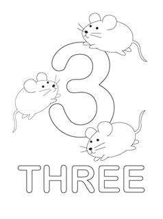 Number Coloring Pages Number Coloring Pages  Mr Printables