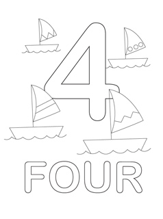 printable number coloring pages Number Coloring Pages   Mr Printables printable number coloring pages