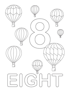 Number coloring pages mr printables for Number 8 coloring page