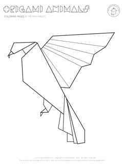 Origami Animal Coloring Pages - Mr Printables Easter Cross Coloring Pages