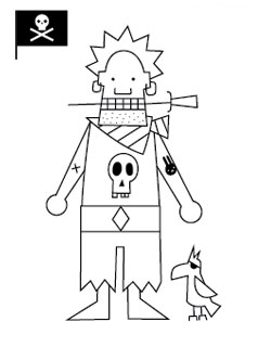 more from mr p robot coloring pages - Pirates Coloring Pages