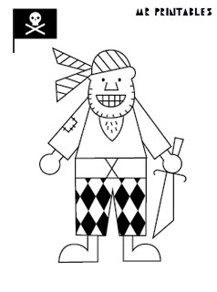 graphic relating to Pirates Printable identify Pirates Coloring Web pages - Mr Printables