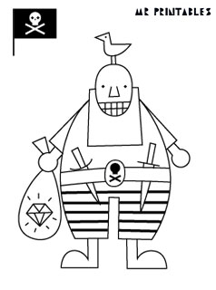 pirates coloring pages mr printables - Pirates Coloring Pages