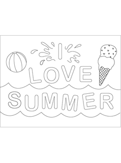 Summer coloring pages mr printables for Summer activities coloring pages