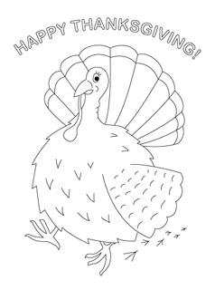 Thanksgiving Coloring Pages For Kids Mr Printables