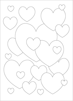 downloads - Coloring Pages Of A Heart