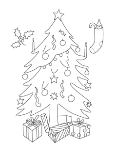 printable christmas coloring pages mr printables - Christmas Pages Color Printable
