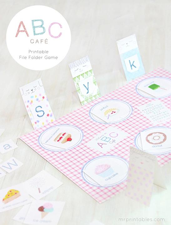 photograph relating to Printable Folder identified as ABC Café Record Folder Recreation - Mr Printables