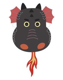 Printable Dragon Masks