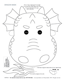 printable dragon masks mr printables