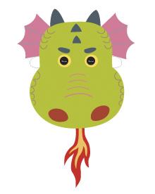 graphic relating to Printable Dragon Mask known as Printable Dragon Masks - Mr Printables