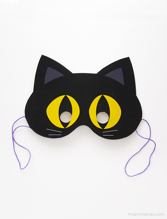 Cute Cat Eye Mask Print