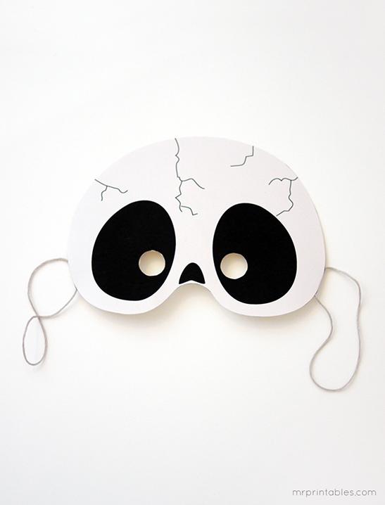 photograph about Mask Printable identified as Printable Halloween Masks - Mr Printables