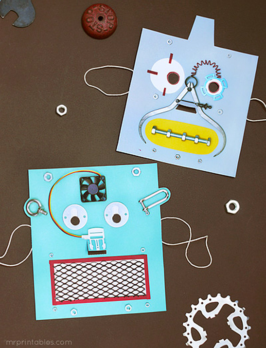 picture regarding Printable Robot called Printable Robotic Masks - Mr Printables