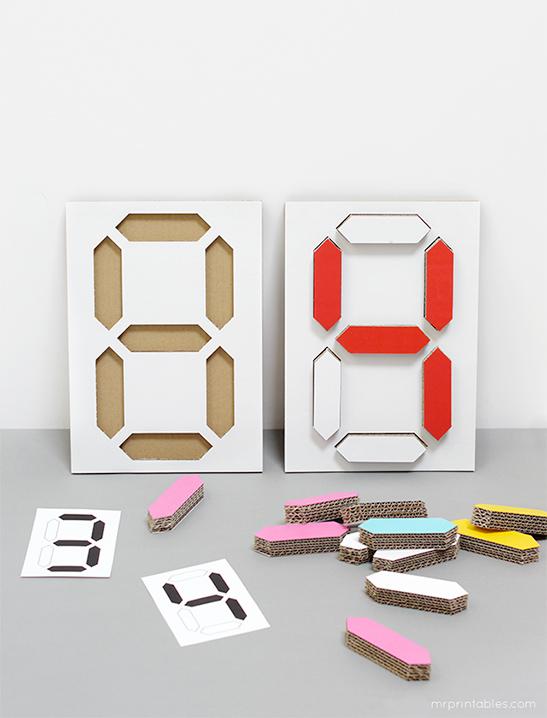 Klok puzzel maken om je kinderen te leren klokkijken
