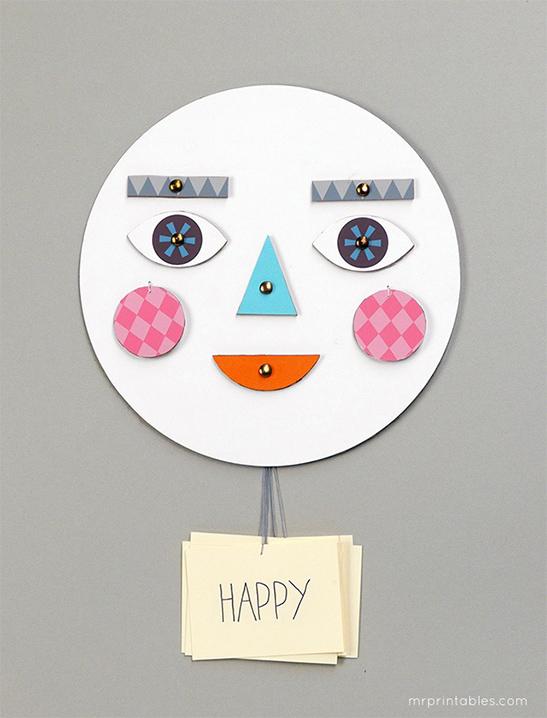 image about Printable Emotions named Deliver a Confront! Understanding regarding Feelings - Mr Printables