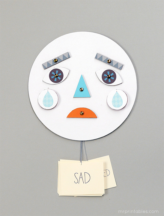 & Make a Face! Learning about Emotions - Mr Printables