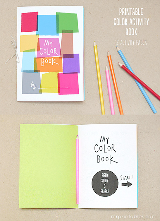 fun with color - My Color Book Printable