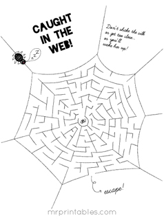 halloween maze - Printable Kids Activities