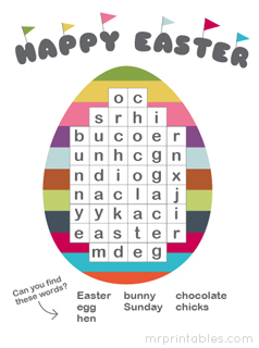 Printable Puzzles for Easter - Mr Printables