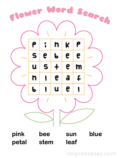 Impertinent image for word search printable for kids