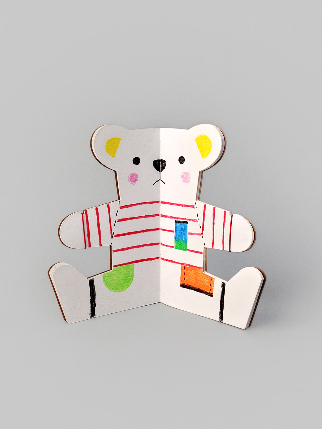 The Teddy Bear Book - creative activity & coloring book by Rock & Peble