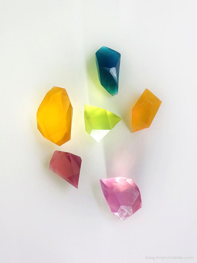 DIY glycerine soap gem stones