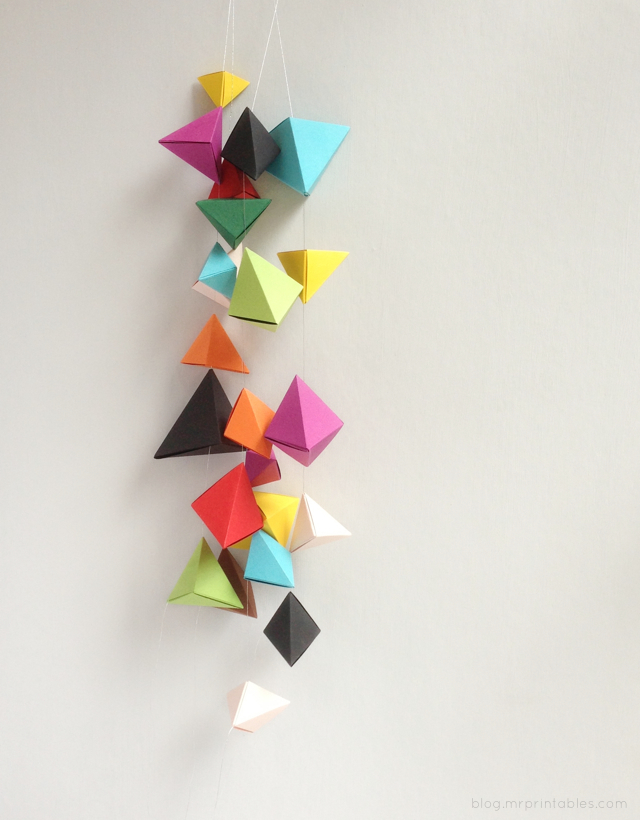 Classroom Decoration Rainbow ~ Origami bipyramid tutorial what to do with them mr