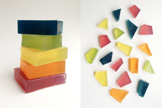 how to make glycerine soap gems
