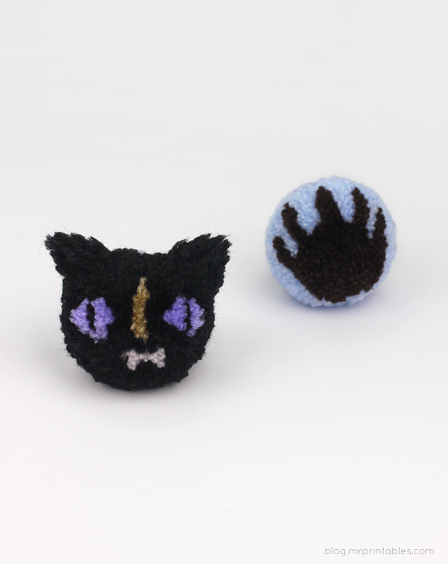 Halloween pompoms tutorial
