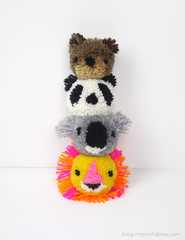 How to Make Animal Pompoms - Tutorial | Mr Printables