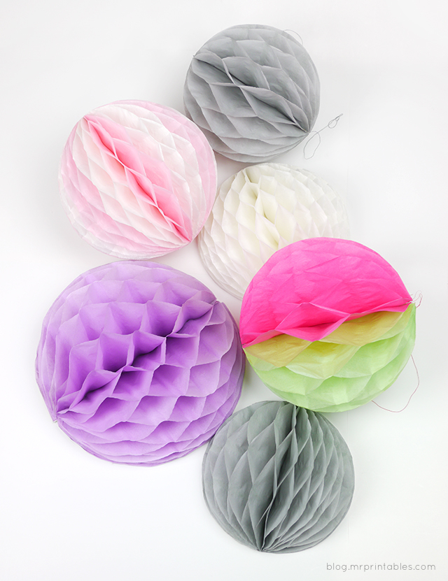 How To Make Paper Balls For Decoration Captivating How To Make Honeycomb Pompoms  Mr Printables Decorating Inspiration