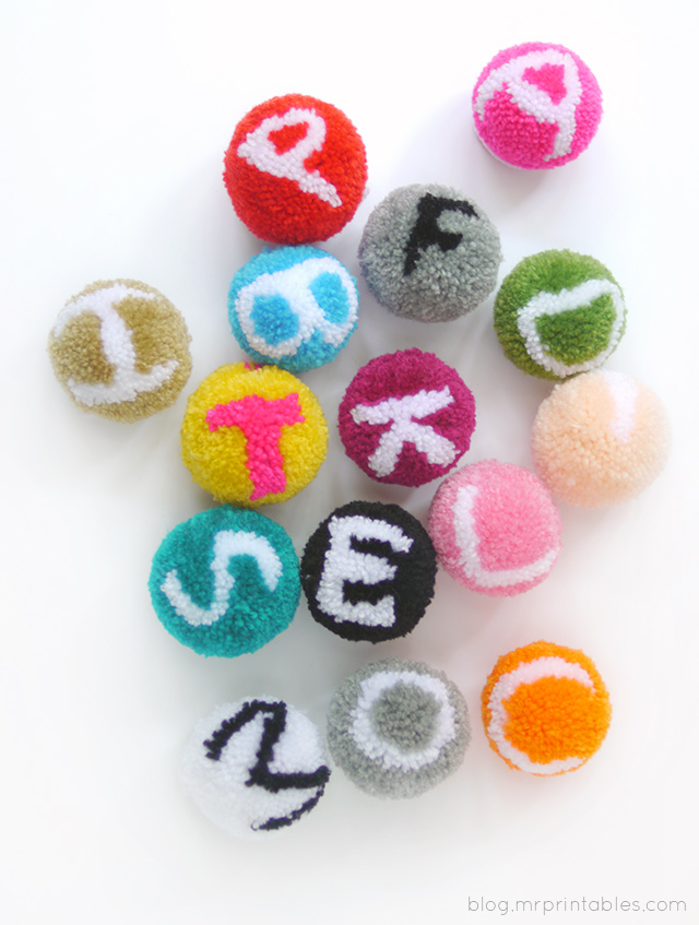 Alphabet Pompoms Tutorial - Mr Printables