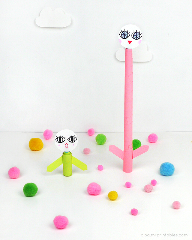 DIY telescopic paper toys on Mr P blog