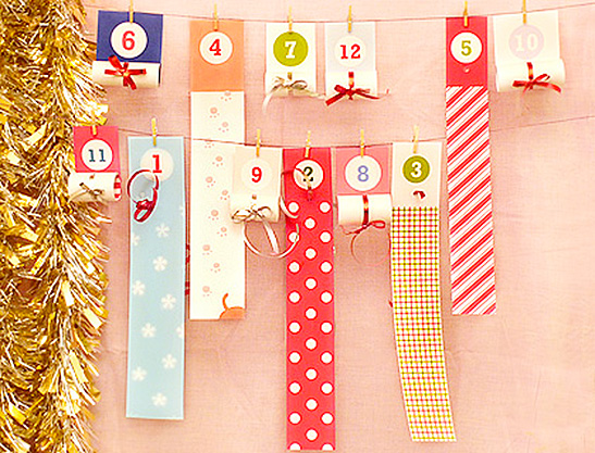 photo about Advent Calendar Printable titled Roll-Up Xmas Arrival Calendar - Mr Printables